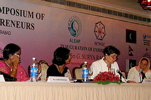 "International Symposium of Women Entrepreneurs on Sustainability & Competetiveness"", 31.8 – 2.9.2007 in Hyderabad, Indien"